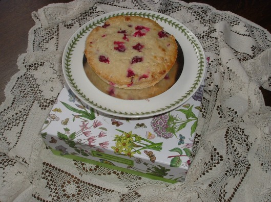 Cranberry and white chocolate cake.  Photo credit: Charles Wakefield