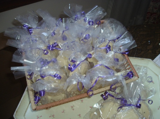 Lavender shortbread favours for guests attending the 2014 IWD Lunch hosted by the Armenian Relief Society of Toronto