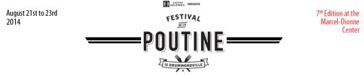 Poutine festival in Drummondville